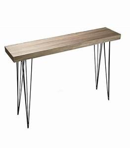Table Bois Et Noir : consoles ~ Dailycaller-alerts.com Idées de Décoration
