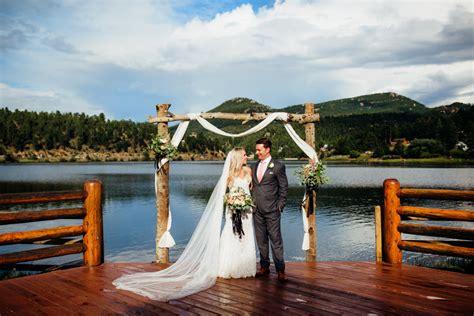 evergreen lake house wedding rainy colorado wedding