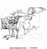 Rushed Cart Tossing Grocery Clipart Illustration Into Woman Food Royalty Vector Dennis Holmes Designs Regarding Notes sketch template