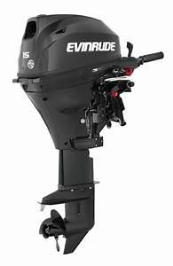 Evinrude Motor E15teg4  15 Hp  15 Shaft  Tiller Steering