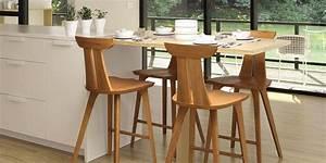 Modern Wooden Counter & Bar Stools - Vermont Woods Studios