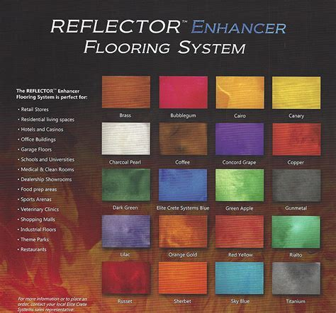 Seamless Flooring   REFLECTOR Enhancer Flooring Systems