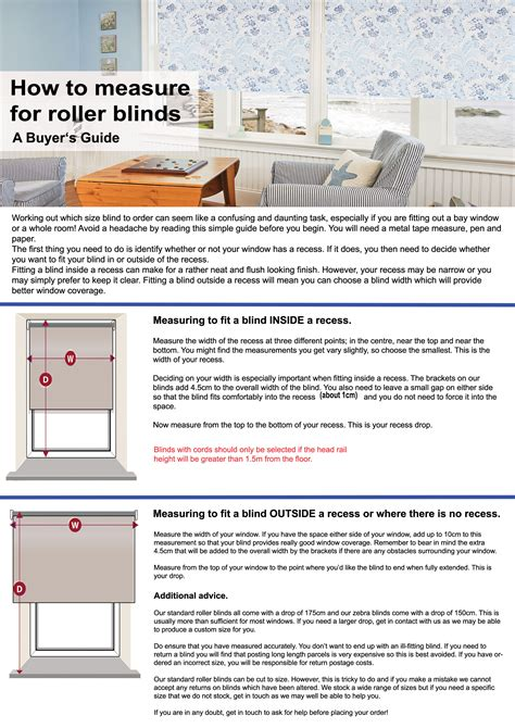 how to measure blinds buyer s guide to measuring for roller blinds