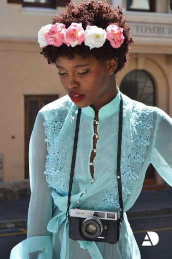 trending floral crowns natural hair  style