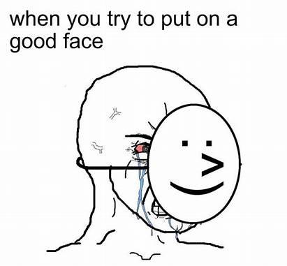 Meme Wojak Crying Mask Guy Template Smile