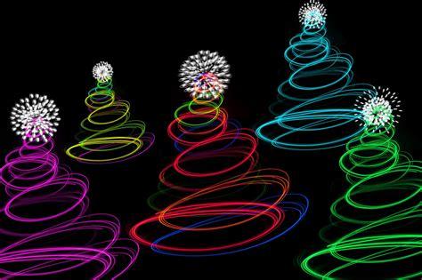 photo of abstract christmas tree lights free christmas