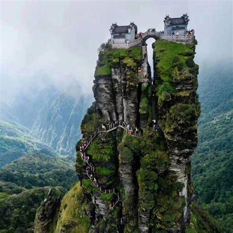 Wuling Backgrounds fanjingshan or mount fanjing guizhou province china an