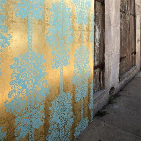 monaco scrubs  gold pony skin foil wallpaper  flavor