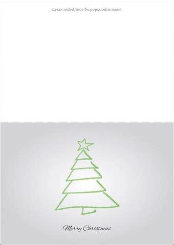 christmas card  christmas tree drawing template