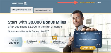 credit cards   united mileageplus business card