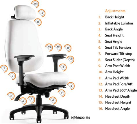 neutral posture chair manual neutral posture 6000 series ergonomic executive task chair