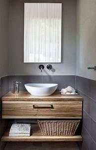 Holz Für Badezimmer : waschtisch holz aufsatzwaschbecken unterschrank regal badezimmer pinterest badezimmer ~ Frokenaadalensverden.com Haus und Dekorationen