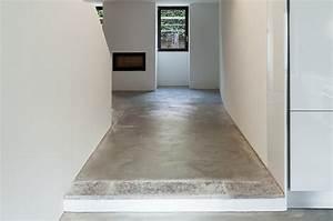 carrelage beton cire trendy peinture effet beton cire With sol effet beton ciré sur carrelage