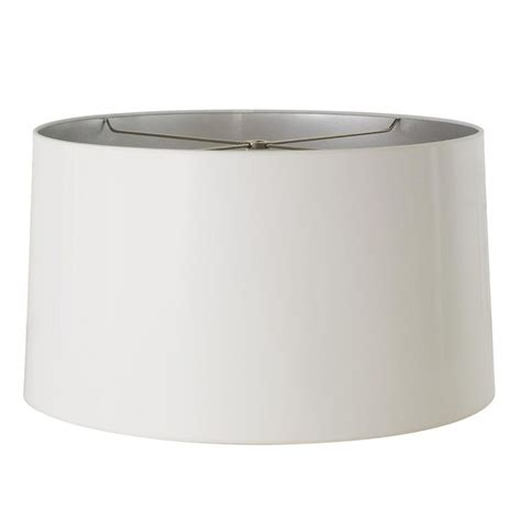 l shade wide fitting 18 quot white gloss with silver lining l shade shades
