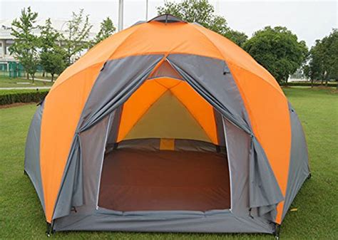 funs  person large hexagonal dome yurt tent  doors double wall family camping tent