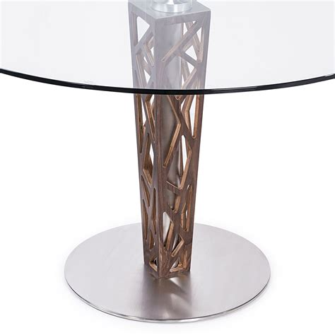 48 glass table top crystal 48 quot clear tempered glass top round dining table