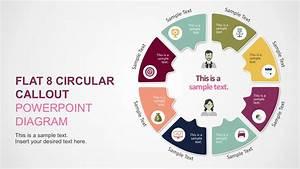 8 Steps Circular Infographics Diagrams