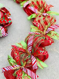Deco, Mesh, Christmas, Decorations, Garland, For, Door, Or, Mantel, Red, And, Green, Christmas, Decor