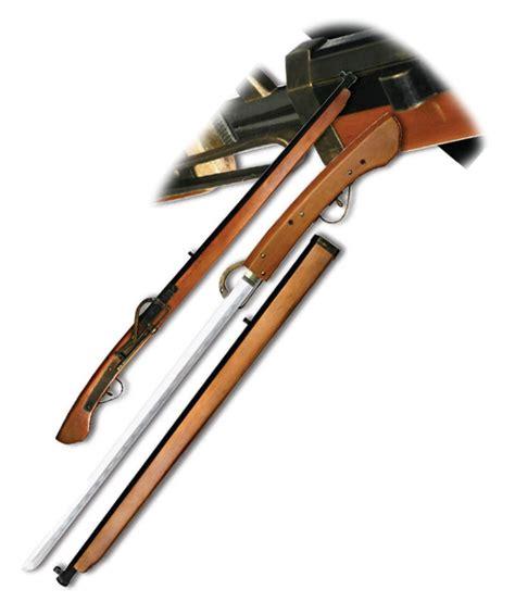 support pour livre de cuisine fusil katana décoration steunk jeux 117cm gt