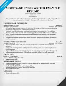resume insurance underwriter