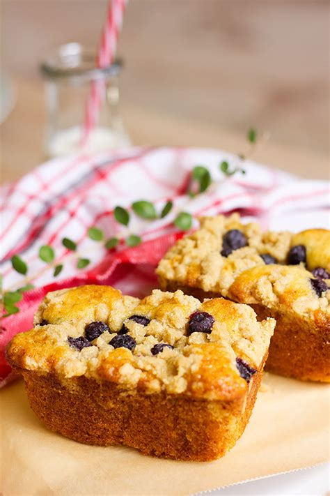 This blueberry coffee cake is a sweet blueberry vanilla cake topped with a generous layer of crumb topping. Easy Mini Blueberry Coffee Cake Loaves Recipe - Munaty Cooking