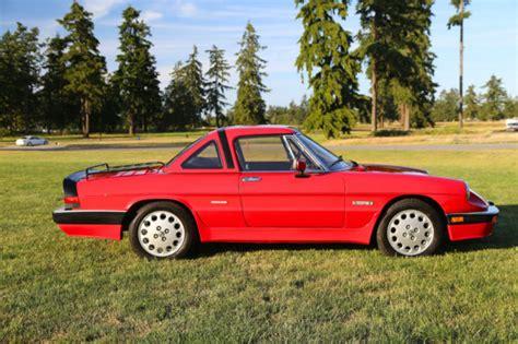 1986 Alfa Romeo Spider Quadrifoglio 24,000 Miles Hard Top