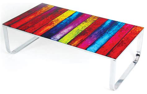 colored glass table ls modern multi color glass coffee table rainbow modern