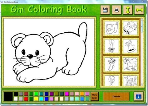 coloring book software  kids  learn coloring gm coloring book