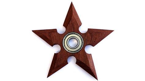 wooden fidget spinner template a wooden shuriken fidget spinner