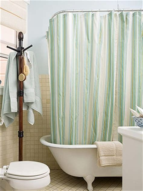 seafoam green shower curtain bathroom