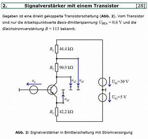 Amplitude Berechnen : mp forum transistorschaltung spannungsteiler matroids matheplanet ~ Themetempest.com Abrechnung