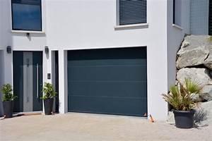 Porte De Garage Gris Anthracite : fabricant de porte de garage sectionnelle motoris e axone spadone ~ Melissatoandfro.com Idées de Décoration