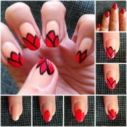 How to make tulips nail art step by diy tutorial