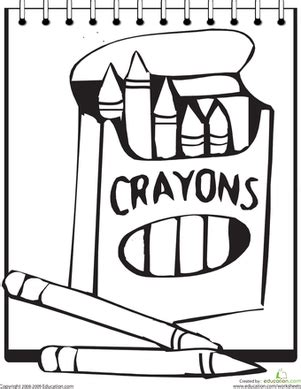 color  crayons coloring page educationcom