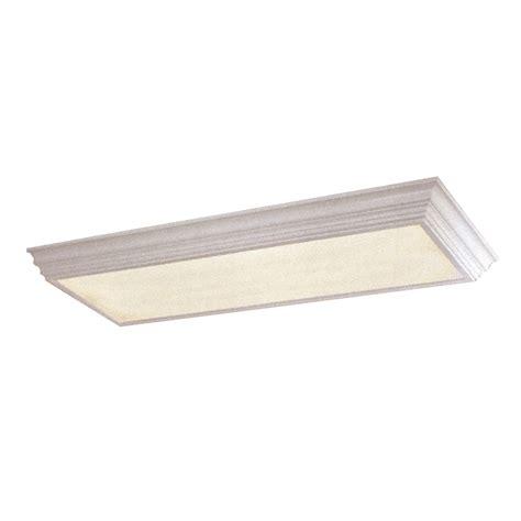 lowes fluorescent shop lights shop portfolio white flush mount fluorescent light energy
