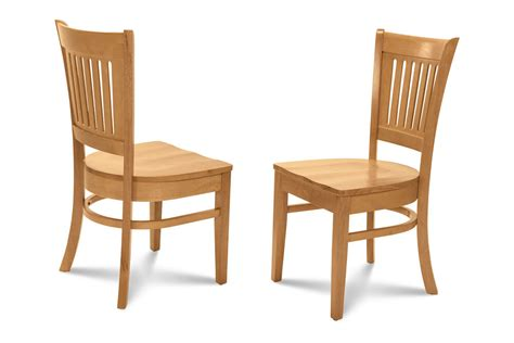 set   kitchen dining chairs  wooden seat  oak