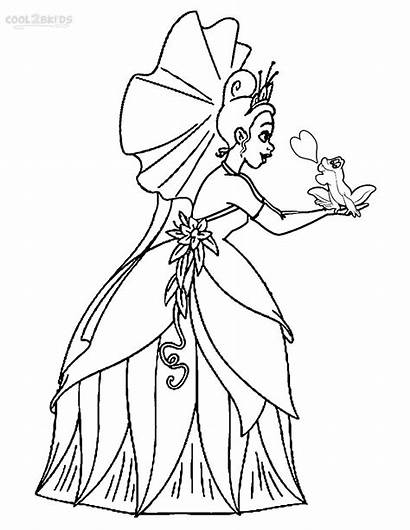 Princess Coloring Tiana Pages Frog Printable Cool2bkids