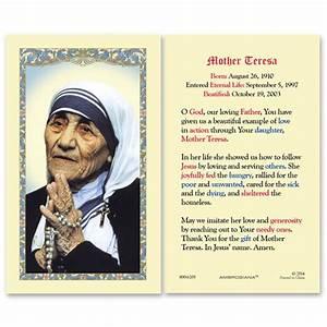 Gerffert Blessed Mother Teresa of Calcutta Bio and Prayer ...