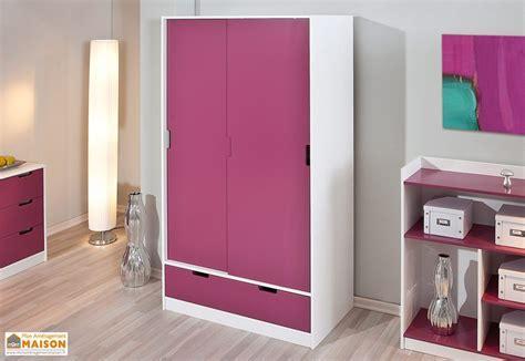 meuble armoire chambre chambre d 39 enfant kidz magenta lit armoire commode