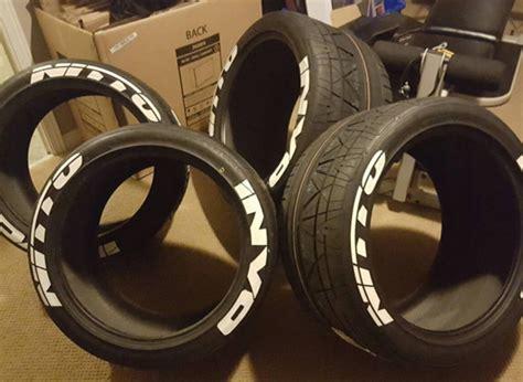 nitto invo tire lettering tire stickers