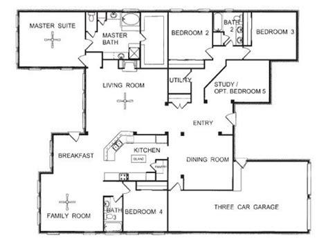 design a house floor plan one floor plans one open floor house plans