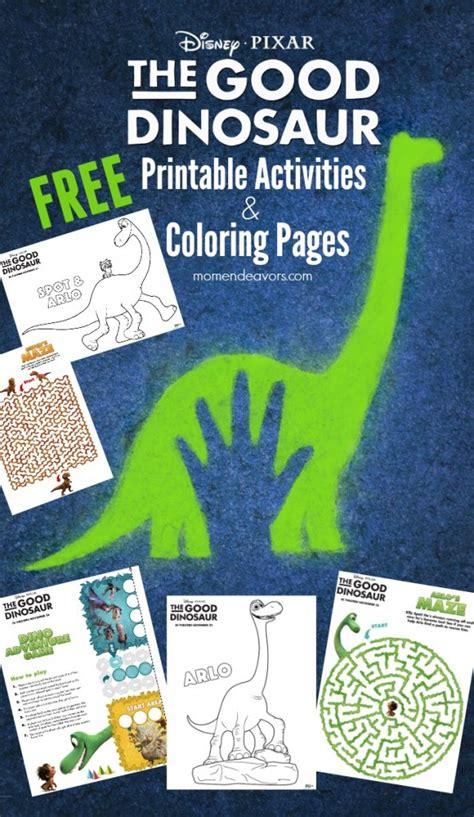 disney pixar  good dinosaur printable activities coloring sheets