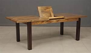 Table Repas Rectangulaire Bois Exotique Avec Rallonge Art