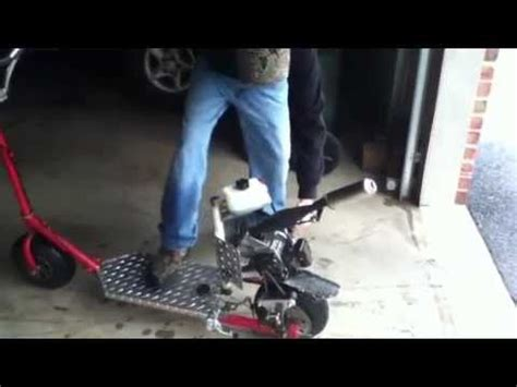 homemade gas scooter youtube