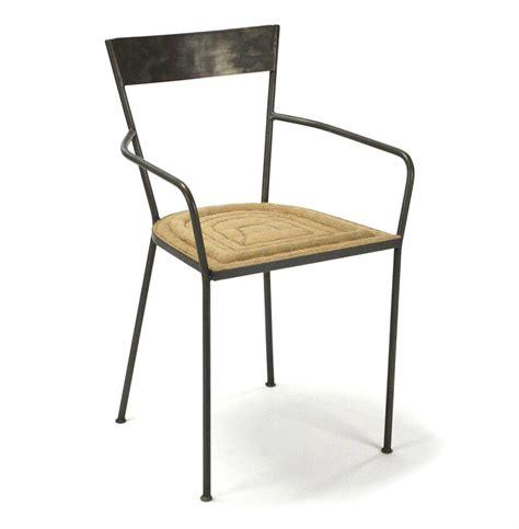 burlap dining chairs klaas industrial modern steel burlap seat dining arm 1877