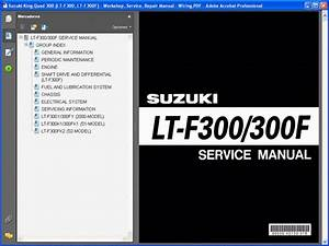Suzuki King Quad 300  Lt-f300  Lt-f300f  Service Manual