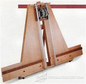 #2176 Circular Saw Crosscut Platform • WoodArchivist
