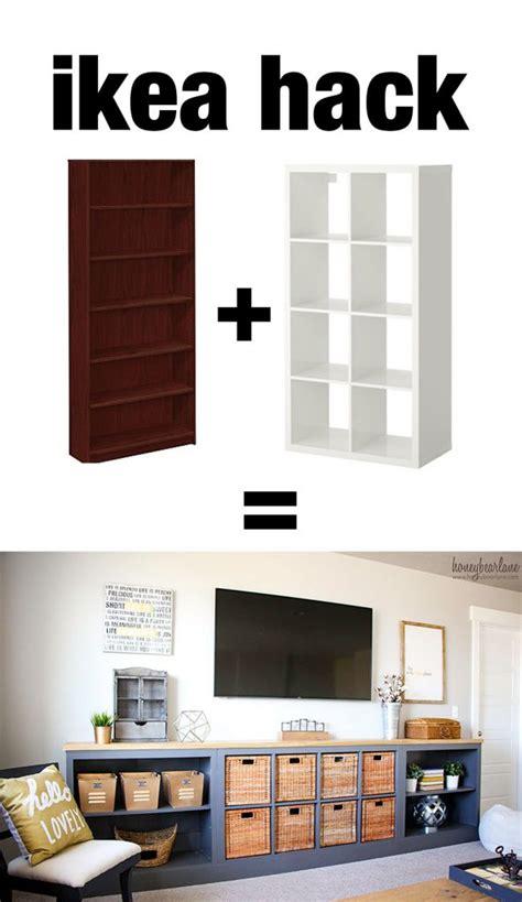 livingroom bench ikea hack expedit into storage unit honeybear