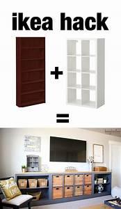 IKEA Hack: Expedit into Long Storage Unit - HoneyBear Lane
