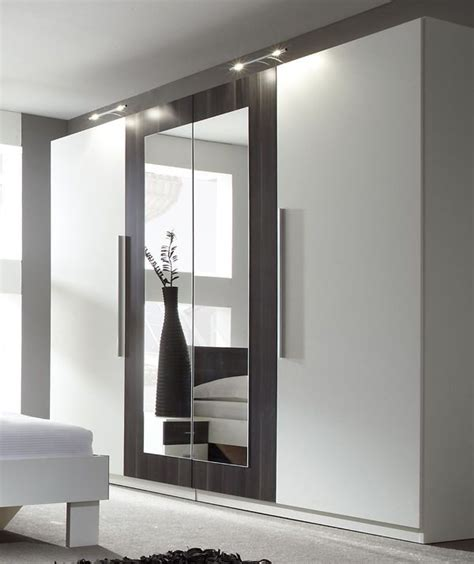 Wardrobe Closet With Mirror Doors by Modern Bedroom 4 Doors Wardrobe Closet With Mirror White
